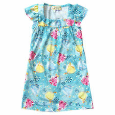 Girls Kids/Toddler Blue Princess Sleepdress/Nightdress Sleepwear, XXL (8-10 y/o)