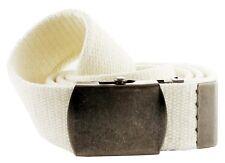 """Premium Military Cotton Canvas Web Belt, 1-1/2"""" Wide"""