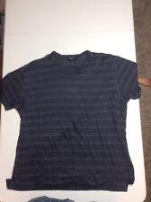 Zegna Sport Slim Fit Linen Shirt, Sz XL, Navy Blue