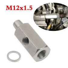 "1/8"" NPT To M12x1.5 Oil Pressure Sensor Tee Adapter Turbo Supply Feed Line Gauge"