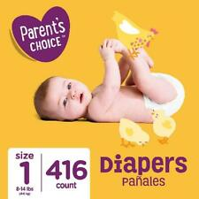 Size 1 Baby Diapers, 416 count (Mega Box) Parent's Choice