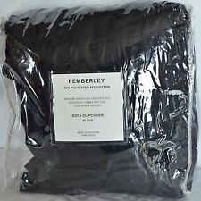 New Pemberley Sofa Slipcover Couch Furniture Protector Black Tieback Country 1PC