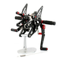 CNC Rearsets Footpegs Footrest Fit for Triumph Daytona 675/R 2013-2017 Black