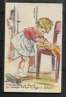 Carte Postale Germaine BOURET  AVEC  DECOUPI   Dim 9 X 14 Cm SUPERBE