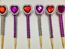 12 pack valentine's bling candy apple sticks custom bundle