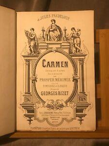 Bizet Carmen opéra partition chant-piano reliée ancienne éditions Choudens