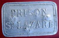 ANCIEN JETON 1900 PRISON ST-LAZARE 50c ANCIENNE MAISON FEMMES PÉNITENTIAIRE