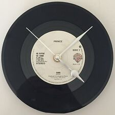 """PRINCE Clock  Vintage Original 7"""" record Birthday Father's Day Gift"""