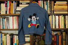 New listing Vintage Mickey Mouse Denim Jacket 50s Chain Stitch Jacket Sanforized Usa Xs Rare