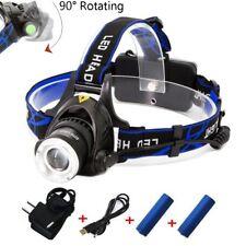 Linterna Ciclismo Recargable Focus LED Lámpara De Cabeza Frontal Luz Waterproof