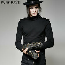 Punk Rave Steampunk Faux Leather Studded Wristcuff Glove Armour Gothic S-198