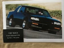1987 BUICK GNX VERY LIMITED PRODUCTION 547 ENGINEERING TEST 12X18 PHOTO POSTER