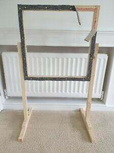Rug hooking frame / Punch needle frame 60cms x 60cms and stand