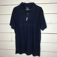 NWT Jos. A. Bank 1905 Tailored Fit Polo Shirt Indigo Blue Men's Large