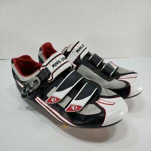 Pearl Izumi Attack RD Cycling Shoes Black Silver 5717 Men's EU Size 45.5 US 11