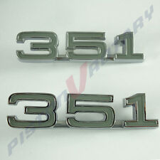 351 Guard Badges x2, NEW for XY XW ZC ZD Ford Falcon Fairlane fender fairmont GT