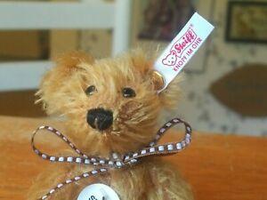 Ltd. Ed. 2002 Steiff Club Cone Nose mohair Cinnamon Teddy Bear Germany 4in EUC