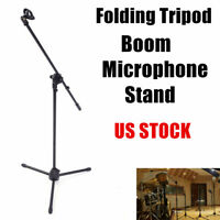 FS-002 Adjustable Folding Tripod Boom Microphone Mic Stand With Mic Holder