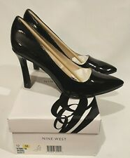 NEW in BOX Nine West JENEIL Classic Black Patent Leather Pumps High Heels Sz 12M