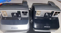 2 Polaroid One600 One-step Instant 600 Film Camera Tested Complete Black & Gray