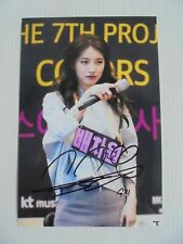 Suzy Bae Miss A 4x6 Photo Korean Actress KPOP autograph signed USA Seller 18