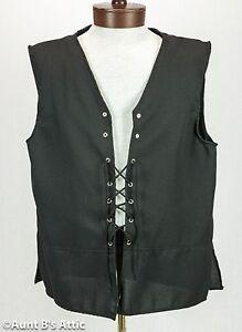 Renaissance Vest Men's Polyester Laced Front Peasant Style Costume Vest
