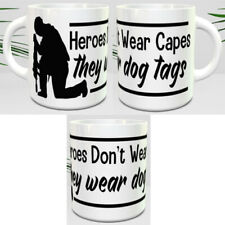 HEROES DONT WEAR CAPES COFFEE & TEA 11oz MUGS - PERFECT GIFT
