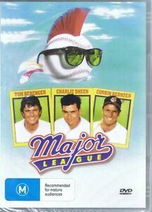 MAJOR LEAGUE DVD Starring Tom Berenger, Charlie Sheen NEW & SEALED Free Post