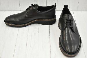 ECCO ST.1 Hybrid 836404 Plain Toe Leather Oxfords, Men's Size 9, Black