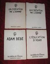 JEAN EIFFEL  4 albums La création de l'homme - Adam bébé - L' éducation d'Adam