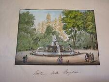 d'ap Charles CLERISSEAU (1721-1820) GRAVURE ROME ROMA VILLA BORGHESE ITALIA 1820