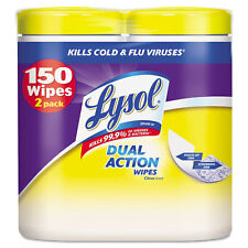 Lysol Disinfecting Wipes Dual Action 7 x 8 Citrus 75/Canister 2/Pack 84922