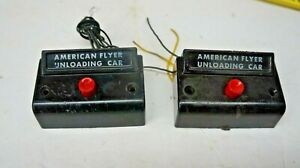AMERICAN FLYER  =  S-GAUGE  HAVE  2  UNLOADING CAR  BUTTON  FOR PARTS