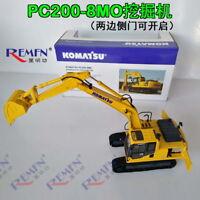 1/43 Komatsu PC200-8MO Hydraulic Excavator with Metal Track DieCast Model Toy