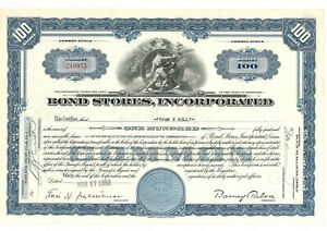 Stock Certificate of Bond Stores, Incorporated