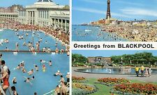 Postcard Lancashire greetings from Blackpool multi view  posted