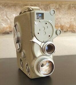 Vintage Eumig C3 Cine / Movie Camera Wind Up Leather Hard Case 8mm Film 647878