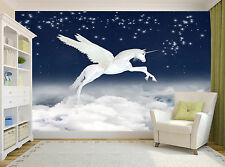 Unicorn in Sky Wall Mural Photo Wallpaper GIANT DECOR Paper Poster Free Paste