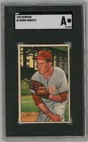 1950 Bowman Robin Roberts #4. SGC Authentic