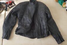 Ladies Belstaff Motorbike Biking Leather Black Jacket Biker size 12