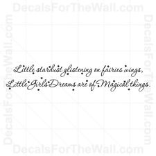 Little Girls Dreams are of Magical Things Vinyl Wall Quote Decal Art Sticker K54