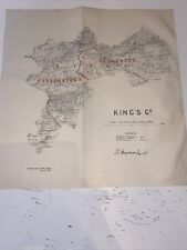 1885 King's County Map Ordnance Survey Office Boundary Commissioners Report