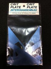 Lt. Blue CRIT PLATE INTERCHANGEABLES Pro Decal Sticker Set Old School BMX Number