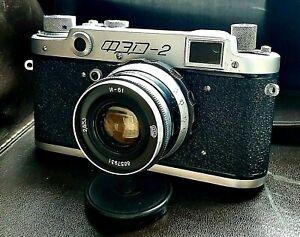Film Camera 35mm FED 2 USSR 1956 vintage rangefinder rare cameras tested Antique