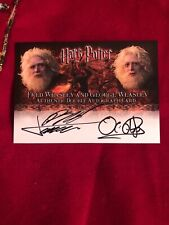 Harry Potter and the Goblet Of Fire Autograph Card By Fred & George Weasley