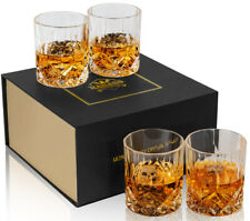 Whiskey Glasses Crystal 300 ml Scotch Bouron Tumblers Cups Clear 4pcs