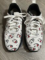 """Men's Champion 93Eighteen Repeat """"C"""" Logo White Black Red Shoes Sneakers Sz 10"""
