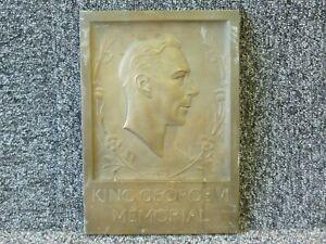 King George VI Memorial Plaque - Bronze