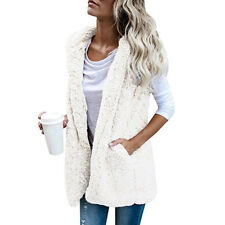 Women Ladies Faux Fur Vest Waistcoat Gilet Sleeveless Jacket Coat Outwear  Casual ddae6c496