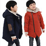 Teenager Boys Winter Thicken Jacket Add Wool Coat Hooded Zipper Snow Outerwear